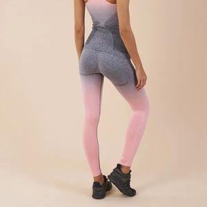 Gymshark Pink grey Ombré Seamless leggings